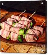 Bacon And Pepper Skewers Acrylic Print