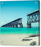Bahia Hondas Railroad Bridge  Acrylic Print