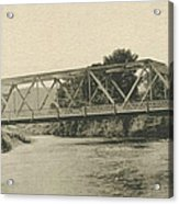 Bailey Bridge Over Willowemoc River Acrylic Print