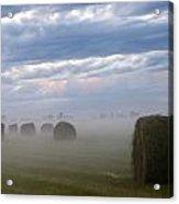 Bails In Fog Acrylic Print