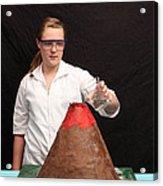 Baking Soda Volcano 1 Of 4 Acrylic Print