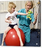 Balance And Stability Physiotherapy Acrylic Print