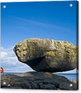 Balance Rock, British Columbia Acrylic Print