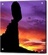 Balanced Rock Sunset Arches Nat.park Acrylic Print