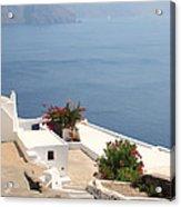 Balcony Oia Santorini Greek Islands Acrylic Print