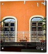 Balcony With Palms Acrylic Print