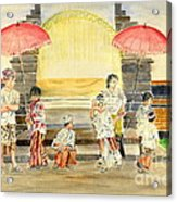 Balinese Children In Traditional Clothing Acrylic Print