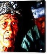 Balinese Old Man Acrylic Print by Funkpix Photo Hunter