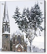 Ballater Church In Snow Acrylic Print