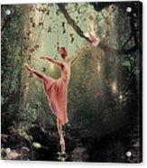 Ballerina Acrylic Print by Lee-Anne Rafferty-Evans