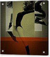 Ballet Dancing Acrylic Print by Naxart Studio