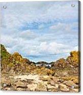 Ballintoy Bay Basalt Rock Acrylic Print
