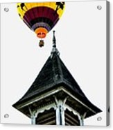 Balloon By The Steeple Acrylic Print