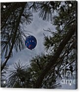 Balloon In The Pines Acrylic Print