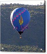 Balloon In Weber Canyon Acrylic Print