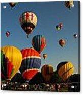 Balloons At Flight Acrylic Print