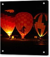 Balloons At Night Acrylic Print