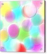 Balloons In The Sky Acrylic Print by Rosana Ortiz