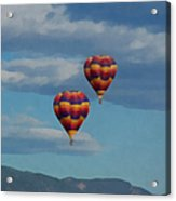 Balloons Over The Rockies Painterly Acrylic Print