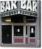 Baltimore Bar Acrylic Print