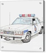 Baltimore County Police Car Acrylic Print by Calvert Koerber