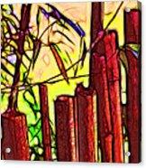 Bamboo Wind Chimes Acrylic Print