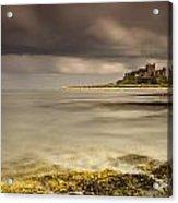 Bamburgh Castle Under A Cloudy Sky Acrylic Print by John Short