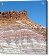 Banded Sandstone Rock Acrylic Print