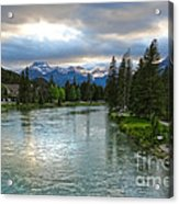 Banff And The Bow River - 02 Acrylic Print