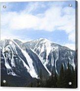 Banff Ski Runs Acrylic Print by Wayne Bonney