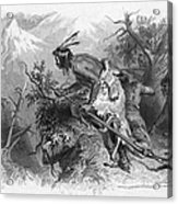 Banknote: Native American Attack Acrylic Print
