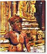 Banteay Srei Statue Acrylic Print