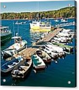 Bar Harbor Boat Dock Acrylic Print