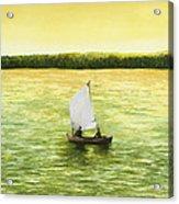 Bar Harbor Sailboat Acrylic Print