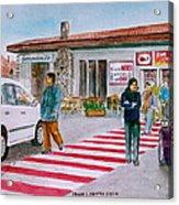 Bar Ristorante Mt. Etna Sicily Acrylic Print