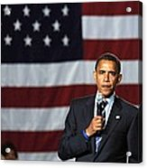 Barack Obama At A Public Appearance Acrylic Print by Everett
