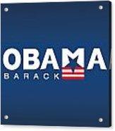 Barack Obama Acrylic Print by Darren Burroughs