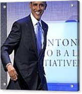 Barack Obama In Attendance For Annual Acrylic Print