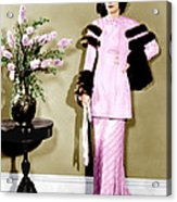 Barbara Stanwyck, Ca. 1934 Acrylic Print by Everett