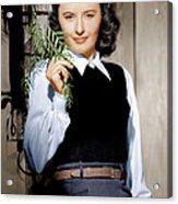 Barbara Stanwyck, Ca. 1947 Acrylic Print