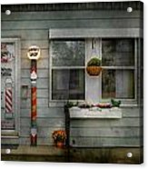Barber - Belvidere Nj - A Family Salon Acrylic Print by Mike Savad