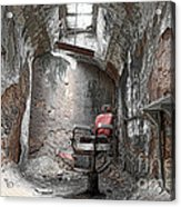 Barber - Chair - Eastern State Penitentiary Acrylic Print
