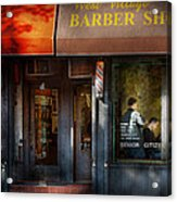 Barber - Ny - Greenwich Village - West Village Barber Shop  Acrylic Print