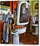 Barber - Barber Chair Acrylic Print by Paul Ward