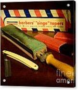 Barber - Keep The Razor Sharp Acrylic Print