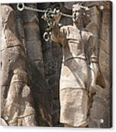 Barcelona Church Sagrada Familia Nativity Facade Detail Acrylic Print by Matthias Hauser