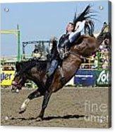 Rodeo Bareback Riding Acrylic Print