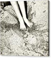 Barefoot In The Sand Acrylic Print