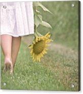 Barefoot Summertime Acrylic Print by Marta Nardini