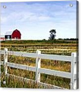 Barn And Fence Acrylic Print